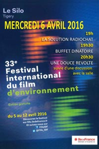 MERCREDI 6 AVRIL 2016 A PARTIR DE 19h - « FESTIVAL INTERNATIONAL DU FILM D'ENVIRONNEMENT